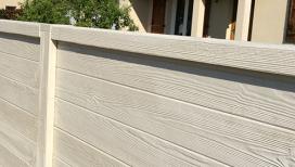 Cloture beton aspect bois avec chaperon
