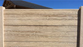 Cloture beton aspect bois finition droite