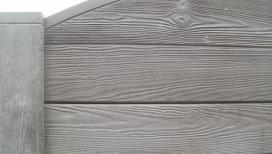 Cloture béton avec poteau en bois