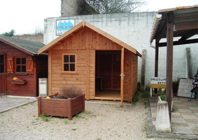 Abris extérieur 1 porte en bois