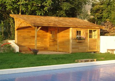 Abris de jardin piscine en bois