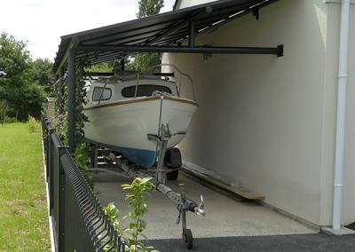 Abri carport métal pour bateau