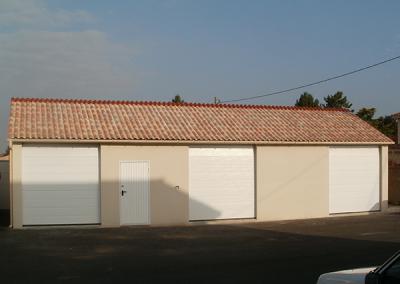 Batiment garages collectifs en béton