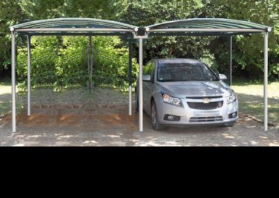 Carport abri métal double
