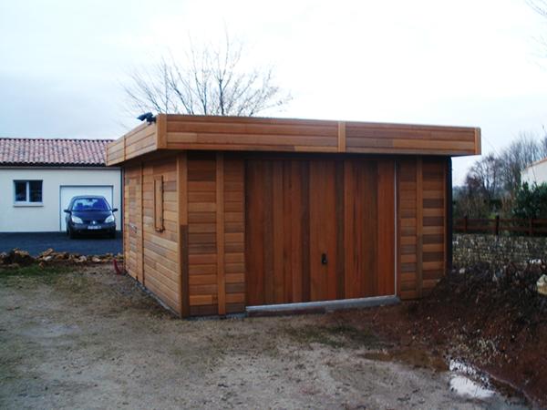 R alisations garages en bois sur mesure sodibat vienne 86 - Garage toit plat beton ...