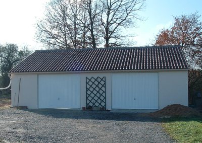 Garage double béton