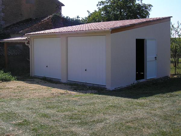 R alisations garages en b ton pr fabriqu s sodibat vienne 86 - Carport double pente ...