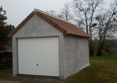 Garage simple en béton