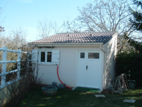 Cabane de jardin en béton mono pente