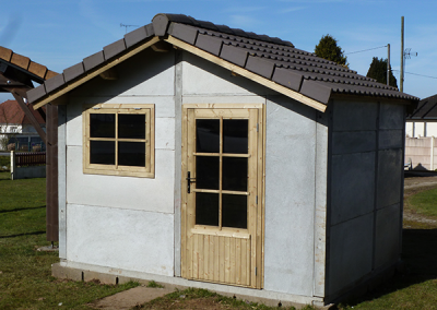 Cabane de jardin en béton préfabriqué