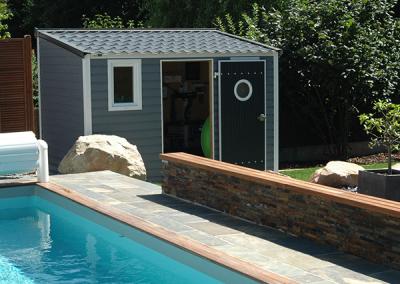Abri de jardin pour piscine PVC