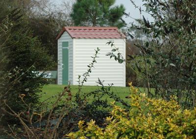 Abri de jardin PVC personnalisable