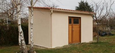 Construction d'un abri de jardin en béton préfabriqué – Guéret (79)