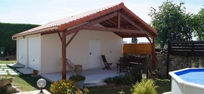 Construction d'un garage béton avec préau près de Niort (79)