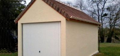 Construction d'un garage en béton dans le secteur de Loches (37)