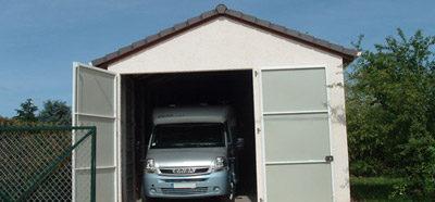 Construction d'un garage en béton préfabriqué pour camping-car sur Bourges (18)