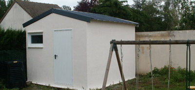 Construction d'un abri de jardin en béton près de Chinon (37)