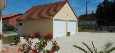 Construction d'un garage double en béton, à Romorantin (41)